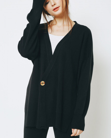 BOYFRIEND CARDIGAN BLACK