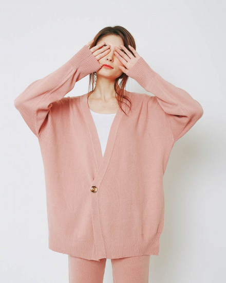 BOYFRIEND CARDIGAN ROSE