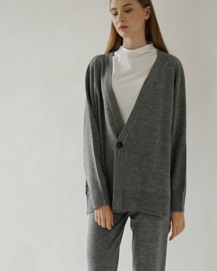 BOYFRIEND CARDIGAN GREY