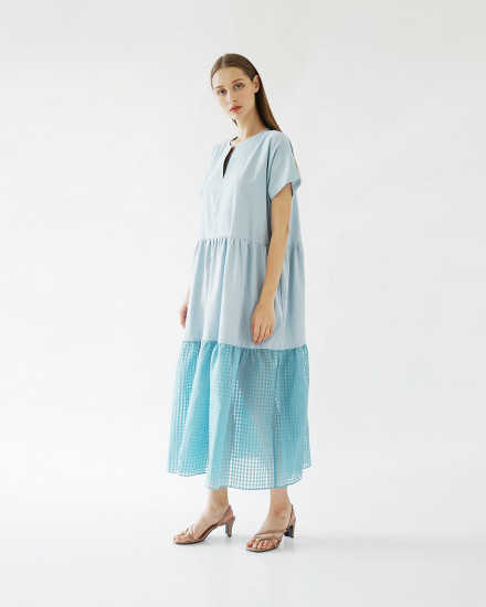 SULLY DRESS ICE BLUE